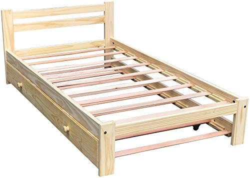 Best Seller Amazonas Twin Bed Trundle Solid Pine Wooden Trundle