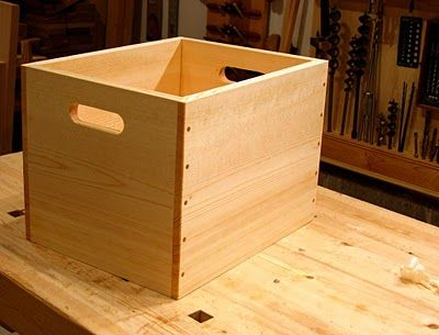 Diy Wooden Crate Great For Record Storage Woodworking