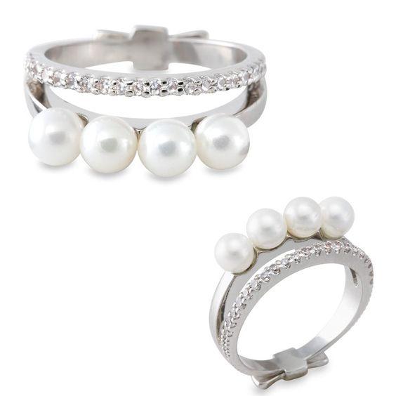 Pin for Later: Nos prières ont enfin été entendues ! Une bague avec des diamants ET des perles !