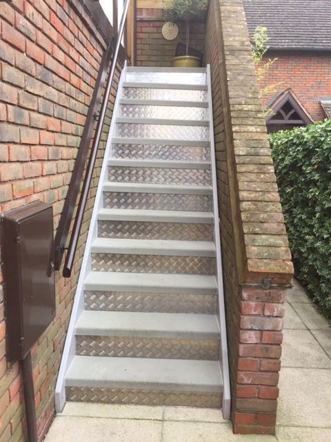 Cheques Plate Kick Plates Keep Your Staircase Looking Good By Using Chequer Plate Kick Plates Made To Any Size And Sh Stair Renovation Stairs House Staircase