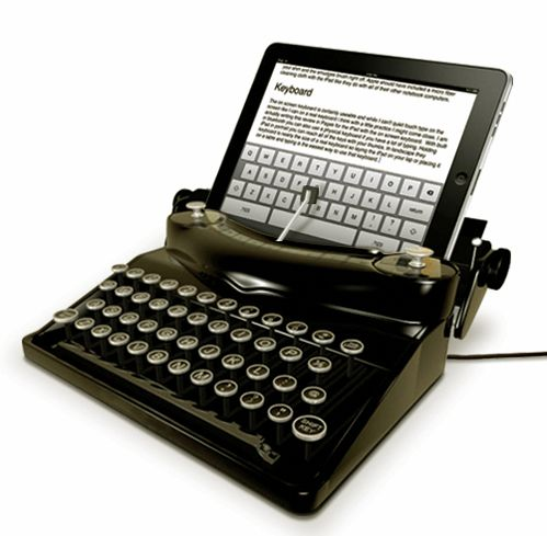 """Typewriting for the iPad - """"the new retro"""""""