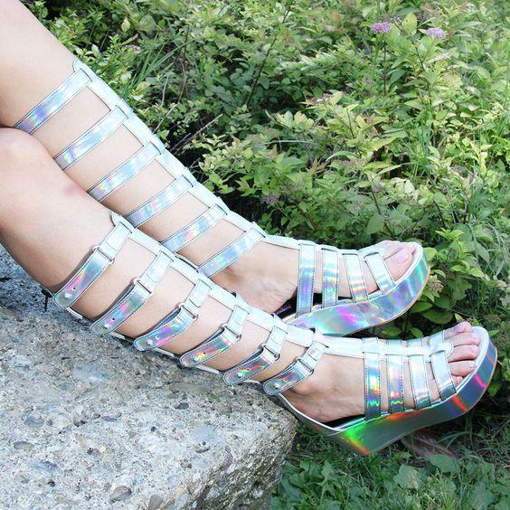 Shop EU – Kerol D. Apparel » M59 Gladiatior Holographic Sandals