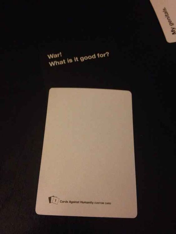 When the blank card finally became useful.