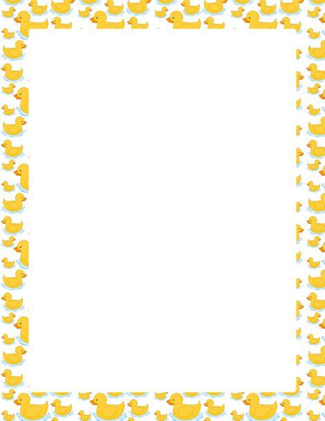 Banana Border Clip Art A page border featuring cute cartoon ducks ...