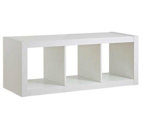 Better Homes and Gardens 3Cube Organizer Storage Bookshelf White