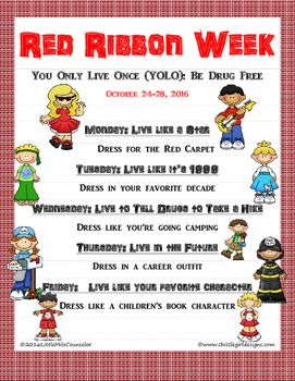 You Only Live Once is the theme for Red Ribbon Week 2016.  Don't worry about planning!  It's been done for you.  This flyer is in pdf and word so you can customize if needed.