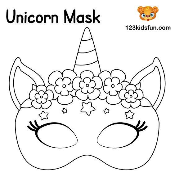 Maravillosas Mascaras De Carnaval Para Tu Nena Bebeazul Top In 2020 Unicorn Mask Mask Template Printable Masquerade Mask Template