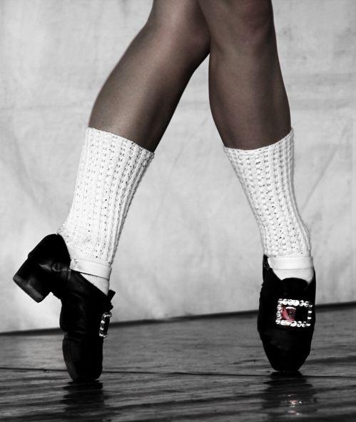 Light And Heavy Irish Dance Shoes Silhouette