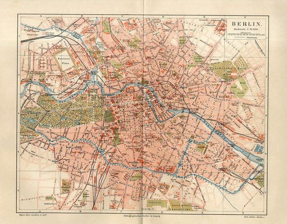 1886 germany berlin city plan antique map ebay berlin vintage pinterest germany berlin. Black Bedroom Furniture Sets. Home Design Ideas