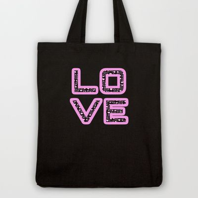 [Glittered Outline Effect Variant] Love's Simply Stylish Tote Bag by Jinzha Bloodrose - $18.00