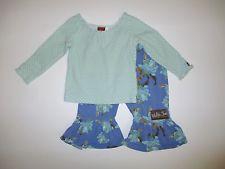 Matilda Jane 12 Mos Character Counts Blue Dot Shirt Floral Marlins Ruffle Pants