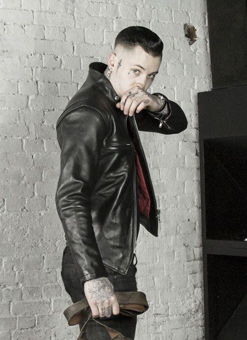Men Leather Jacket Fashion,Men Tattoo
