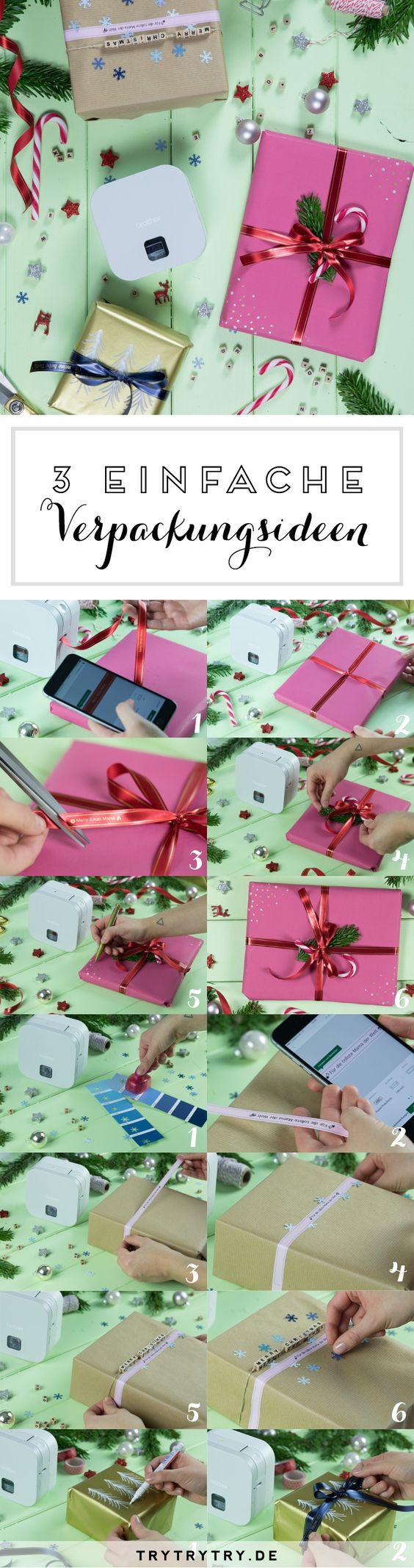 3 einfache Verpackungsideen für deine Weihnachtsgeschenke