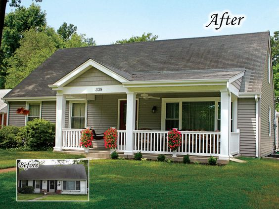 Adding A Small Front Porch Traditional Exterior By Agape
