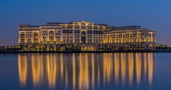 With rooms starting from £430 a night, Palazzo Versace Dubai offers views of Dubai Creek (pictured) or the Culture Village development