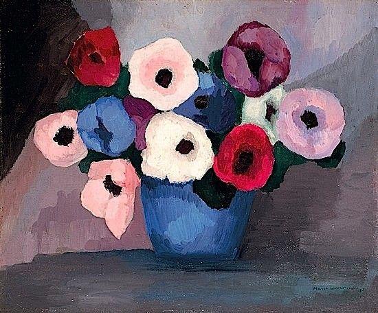 Marie Laurencin 1885 1956 Vase De Fleurs 1937 Huile Sur Toile