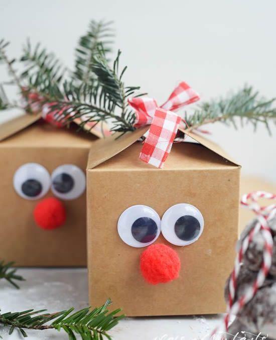 Embalagens criativas para presentes de Natal - Dicas Práticas