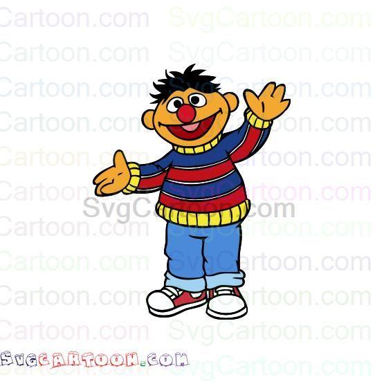 Ernie Sesame Street Svg Dxf Eps Pdf Png Sesame Street Clipart Design Png