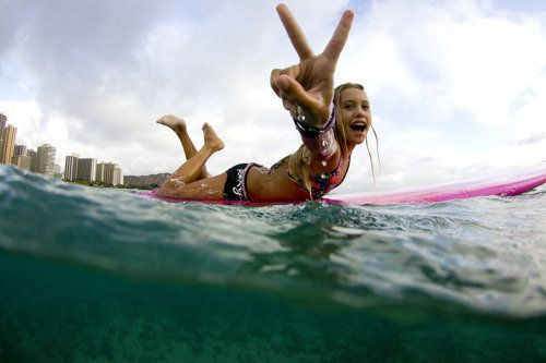 carefree and surfing. nothing can be better