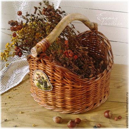 """Корзиночка-короб """"Ежевика"""" - корзиночка плетеная, короб с ручкой, красивый, большой, удобный, яркий, необычный"""