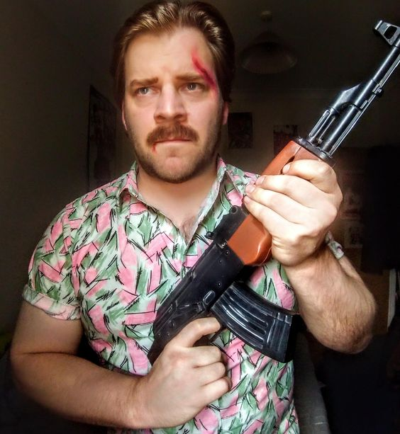 #cosplay #Hopper #Jim #stranger [self] Jim Hopper cosplay from Stranger Things