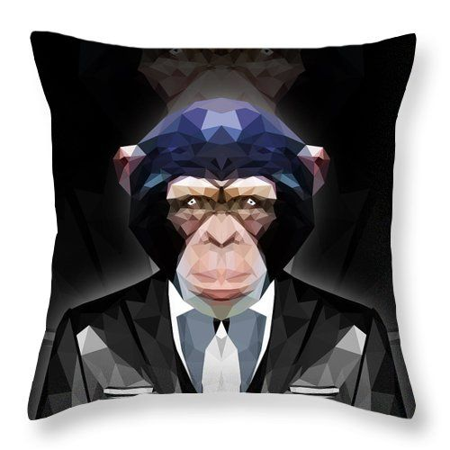 Ape Throw Pillow by Filip Aleksandrov Geometric Print Pillows Stylish Pillows Classy Pillows