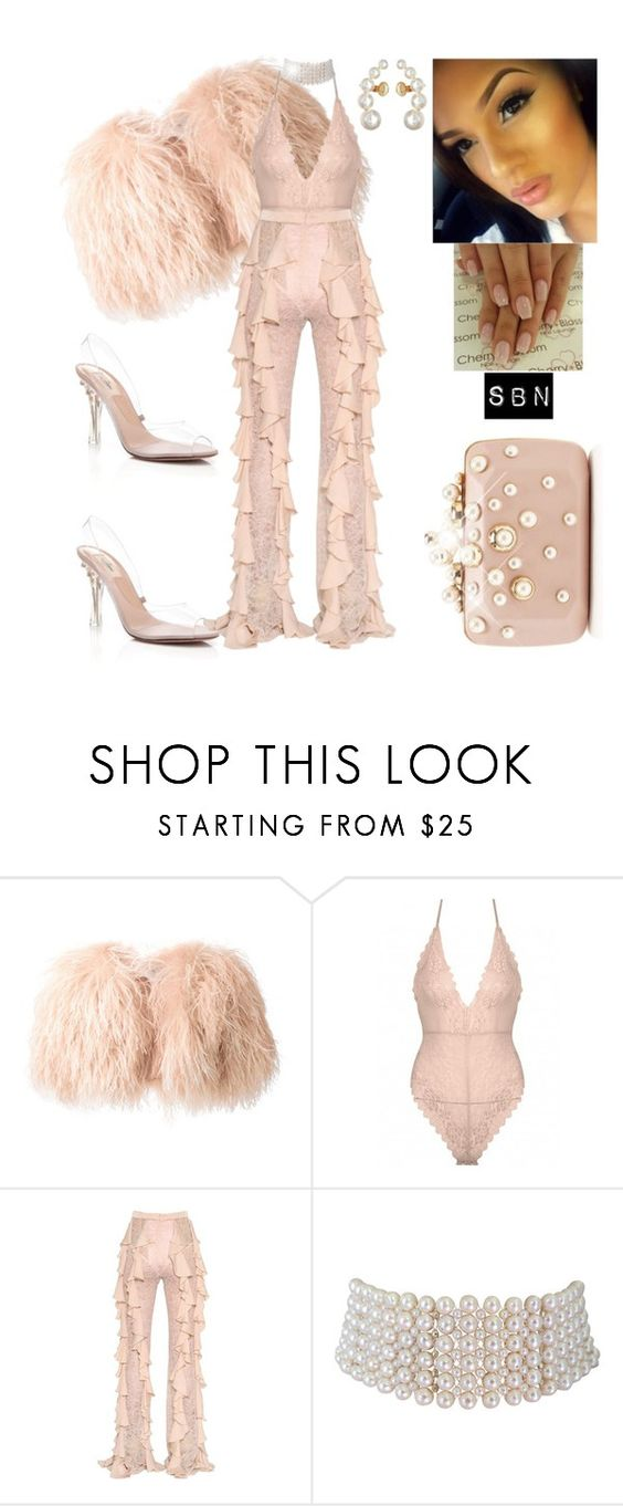 """La Perla."" by styledbynineaux ❤ liked on Polyvore featuring Daizy Shely, Balmain, Marina J. and Sam Edelman"