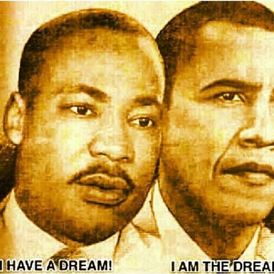 Martin Luther King Jr and Obama