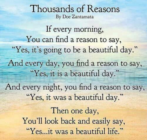 Thousands of reasons