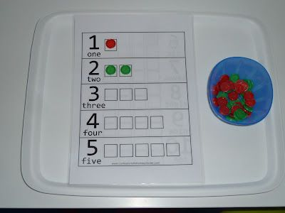 Teaching Counting with 4-In-A-Row Counters