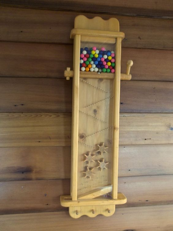 Wooden Gumball Machine Golden Oak Color By