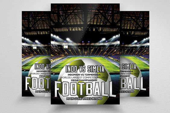 Football Match Flyer Template by Business Flyers on @creativemarket