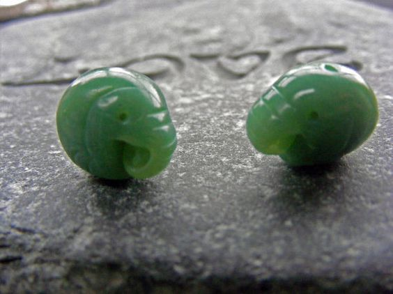 Charming Little Elephant Charms  Faux Jade by pipsjewellery, $8.00