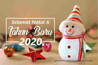 Gambar Natal Dan Tahun Baru 2020 Christmas Stickers Christmas Ornaments Holiday Decor