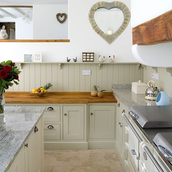 Wood top with stone floor... good colour on the units.... should the floor colour be a bit warmer (yellower)