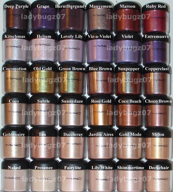 MAC pigment collection.. Blue brown is my favorite pigment!