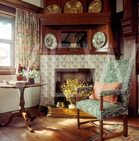 oak room at wightwick manor still life of chair with