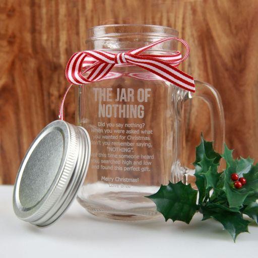 Engraved Jar Of Nothing Mason Jar Novelty Christmas Gifts Jar Christmas Gifts