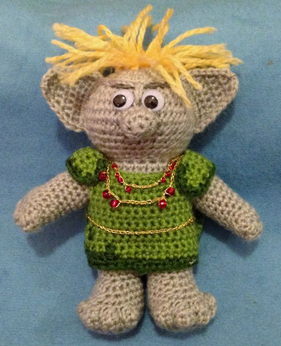 Crochet Pattern For Troll Hat : Amigurumi troll (inspired by the trolls in the Disney ...