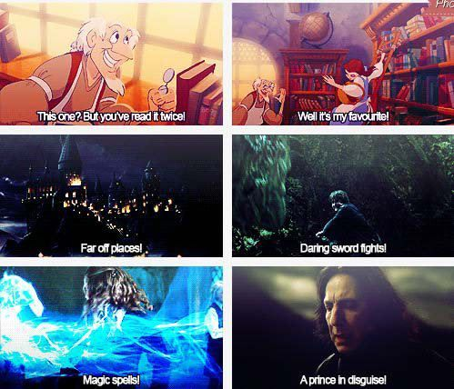 This just proves once again that my inner disney princess is Belle. Love me some Harry Potter!