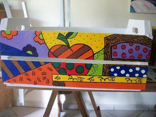 Caixotes da Simone MIranda Veja mais de seus trabalhos Ela é muito caprichosa Com releituras de Romero Brito