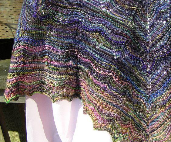 Arroyo Kuura shawl March 2012 closeup 1 by lacegarden12, via Flickr