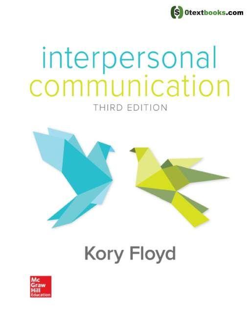 Interpersonal Communication 3rd Edition Textbook Interpersonal Communication Interpersonal Nonverbal Communication