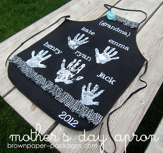 diy apron for grandma