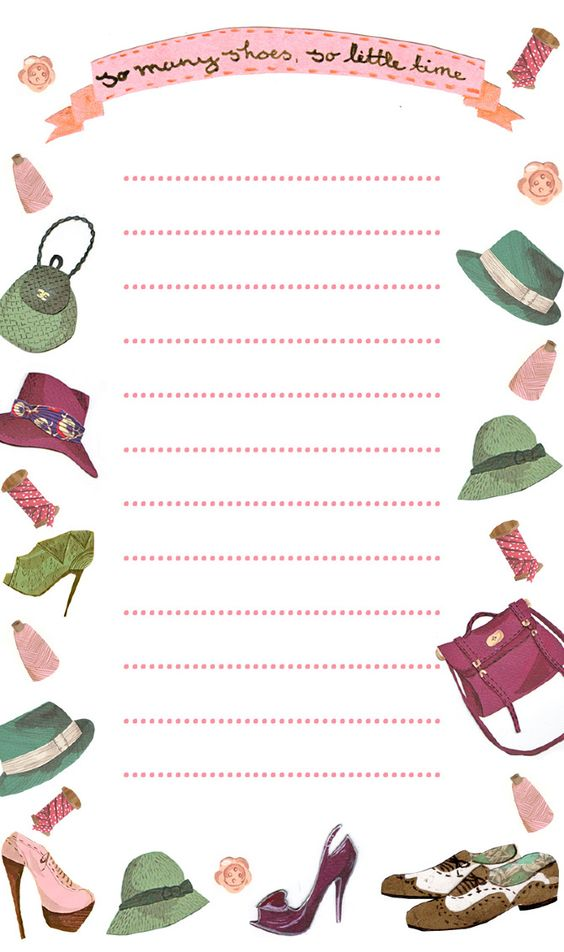 Artworks, Stationery and Shoes on Pinterest - lined stationary paper