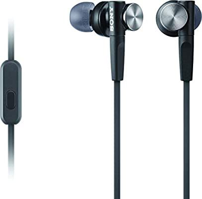 Amazon Com Sony Mdrxb50ap Extra Bass Earbud Headphones Headset With Mic For Phone Call Black Home Audio Theater Earbuds Earbud Headphones Headphones
