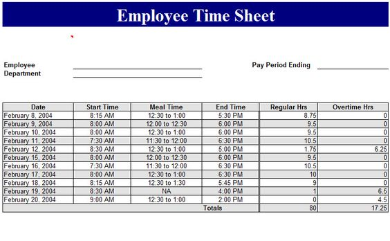 Sample Of Employee Timesheet Excel Template Management Templates - employee timesheet