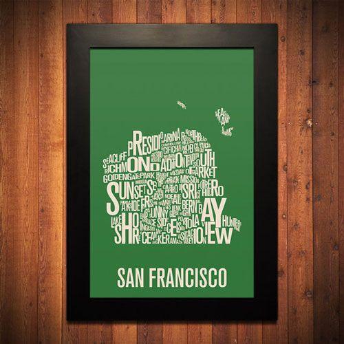 San Francisco Typography Print