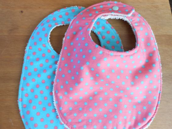Beautiful Bibs Set of 2 in Pink/Turquoise  Towel by YumyumHome, £12.00