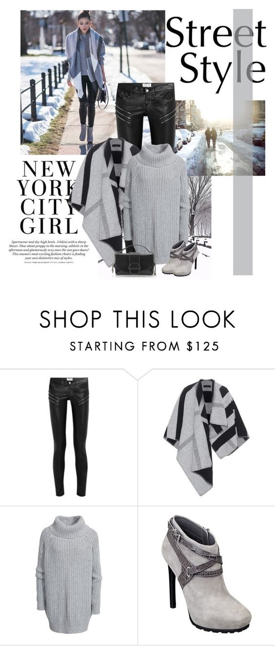 """fashion street"" by bodangela ❤ liked on Polyvore featuring H&M, Yves Saint Laurent, Burberry, Hunkydory, GUESS, Ballin, women's clothing, women, female and woman"